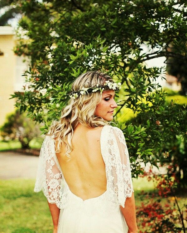 Open Back French Chantilly Lace In Boho Style @somadesign