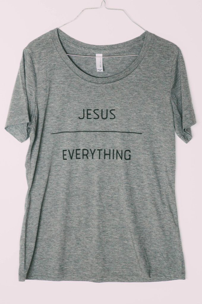"""Jesus over Everything"" Triblend Tee                                                                                                                                                                                 More"