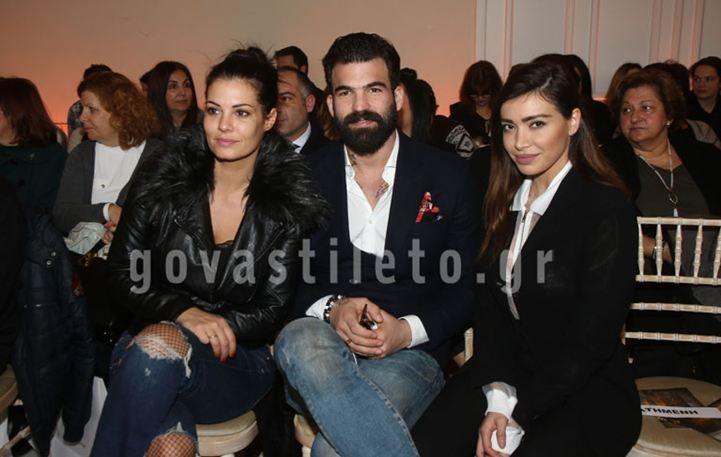 Δημήτρης Αλεξάνδρου-Όλγα Φαρμάκη: Μαζί με την Κορινθίου σε επίδειξη μόδας!