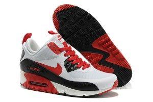 Vendita online bianche,rosse,nere - scarpe da ginnastica nike air max 90 mid no sew uomo prezzo di fabbrica