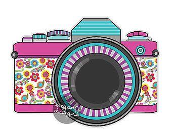 La etiqueta retro cámara cámara Retro Vintage por MeganJDesigns