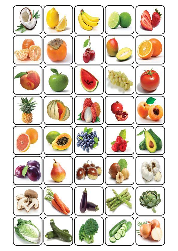 Bingo de la nourriture: Voici quelques planches pour jouer au bingo avec le vocabulaire de la nourriture en français + les cartes à piocher.