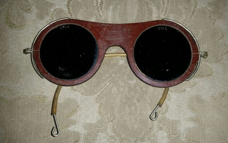 Vintage Industrial Steampunk OXWELD Safety Welding Goggles Glasses  #OXWELD