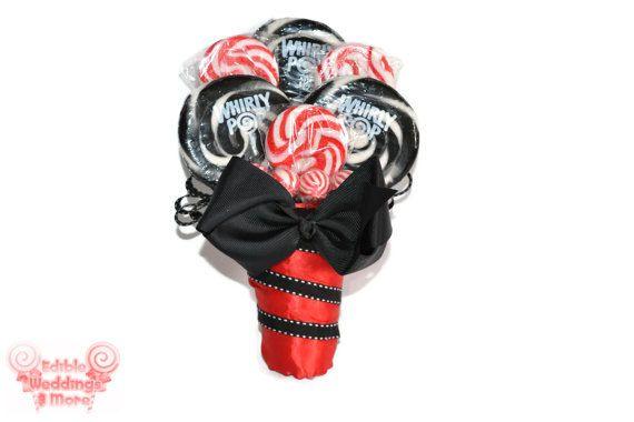 Customizable Lollipop Bridesmaid Bouquet Candy Bridesmaid by EdibleWeddings, $34.99