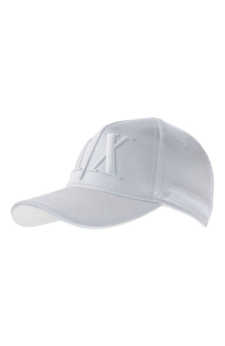 Sateen Logo Baseball Hat - New Arrivals - Accessories - Armani Exchange