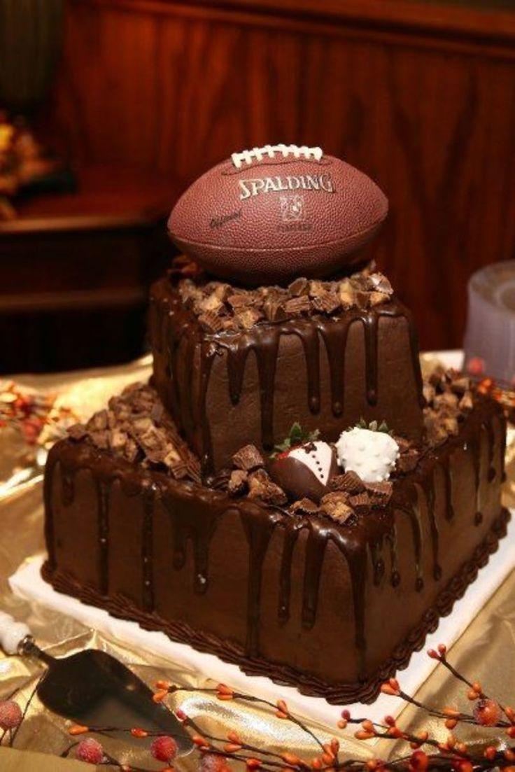 football grooms cake