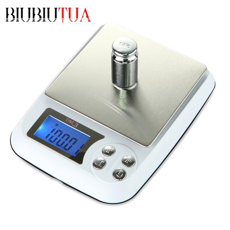 BIUBIUTUA 1kg/0.1g Digital Electronic Scales Portable Weight Scale Precision Jewelry Scales Kitchen Scale Gram Balance paleo * Detalles sobre el producto se puede ver haciendo clic en la VISITA botón