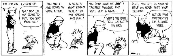 Calvin and Hobbes Comic Strip, September 09, 2015 on GoComics.com -- Love the ones with Rosalyn!