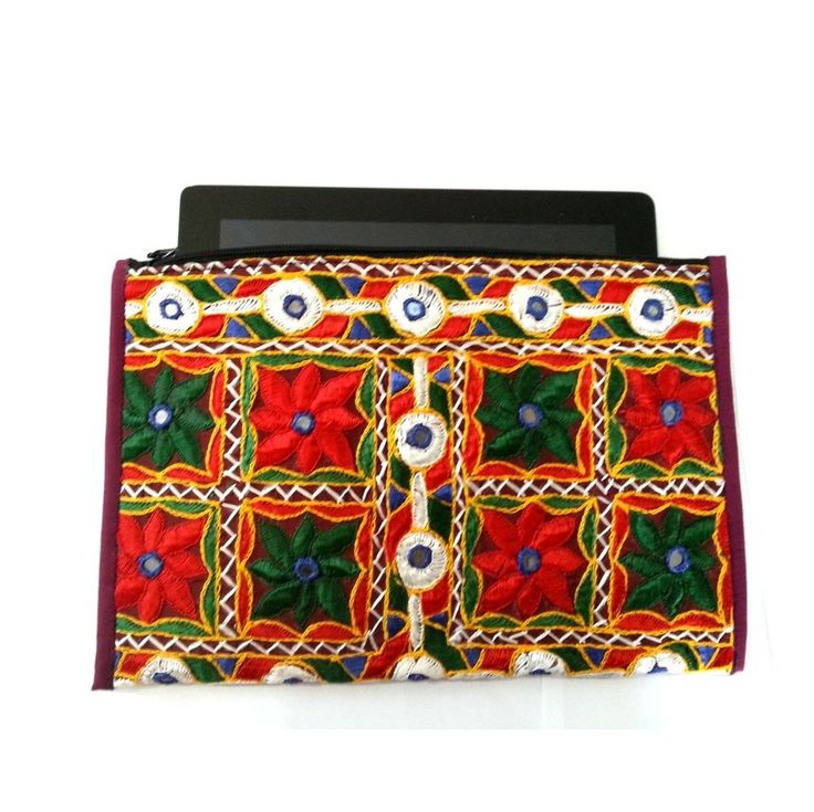 Funky Clutch Tablet Case Made in Rajasthan from Banjara Tunics 12 x 8inch Only £19.99 ..  Ideal Christmas gift. Visit BongoJazz.co.uk for more gift ideas.