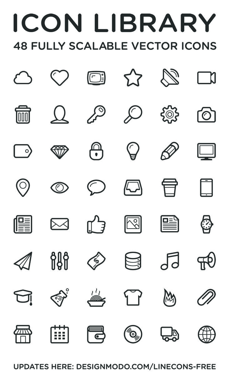 Linecons Icon Set #freebie #psd #iconset