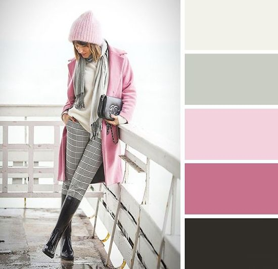 cómo combinar el color rosa claro-2017