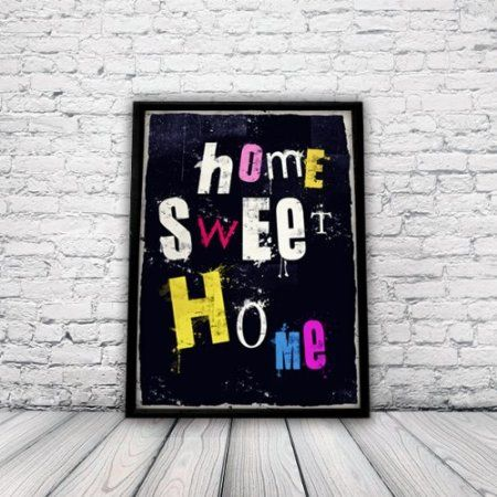 Home, New Home, House Warming Poster, A3 Print, home sweet home, wall art, home decor, punk, rock,: Amazon.co.uk: Kitchen & Home