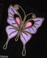 Purple Butterfly original design zipper and felt handmade pin brooch