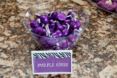 Reese's Purple Zebra 3rd Birthday Party