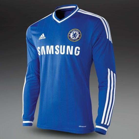 adidas Chelsea 13/14  Home Replica LS Shirt - Blue/White