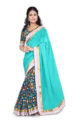 Ved Deal's Bollywood Replica Heavy Blue Designer Saree Bollywood Sarees Online on Shimply.com