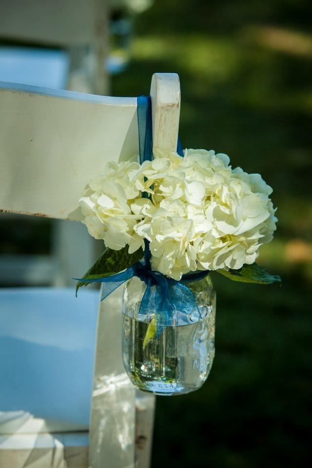 Mason Jars And Hydrangeas For Isle Runners Weddings