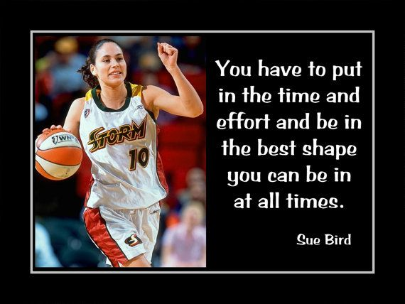 Basketball Motivation Sue Bird Seattle Storm UCONN by ArleyArt