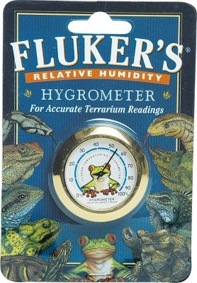 Fluker's Relative Humidity Hygrometer for Reptile Terrariums