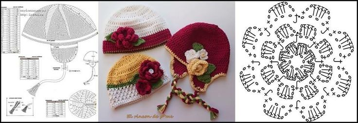 A variety of hats for girls