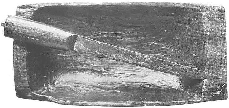 Oseberg ship grave - trencher