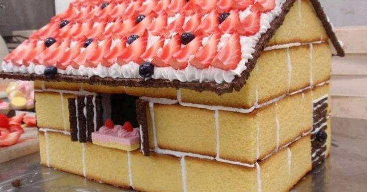 Χριστουγεννιατικα+σπιτάκια+από+κέικ+!