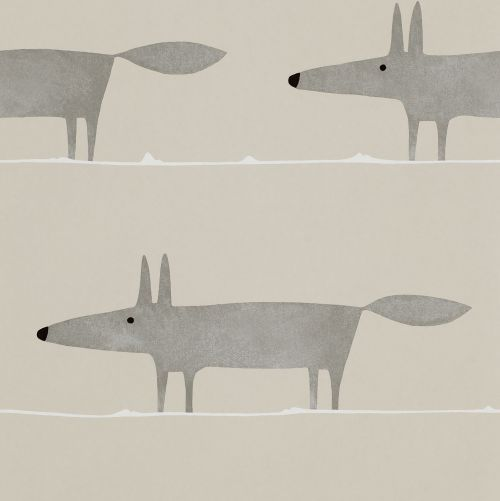 Mr Fox Silver  wallpaper by Scion