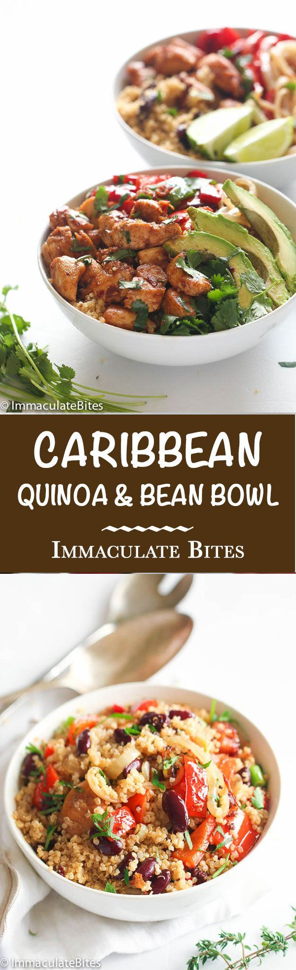 Caribbean Quinoa and beans Bowl - A lightened-up, Nutritious Caribbean Quinoa and beans that will keep you satisfied. - So healthy, Tasty and full of flavor