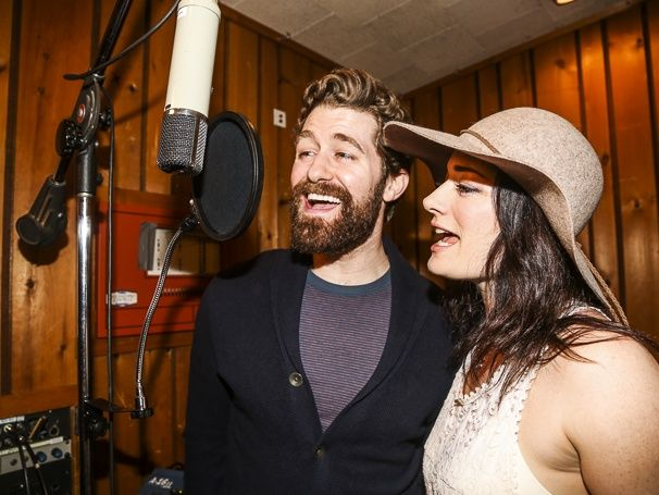 Matthew Morrison and Laura Michelle Kelly record FINDING NEVERLAND's cast album