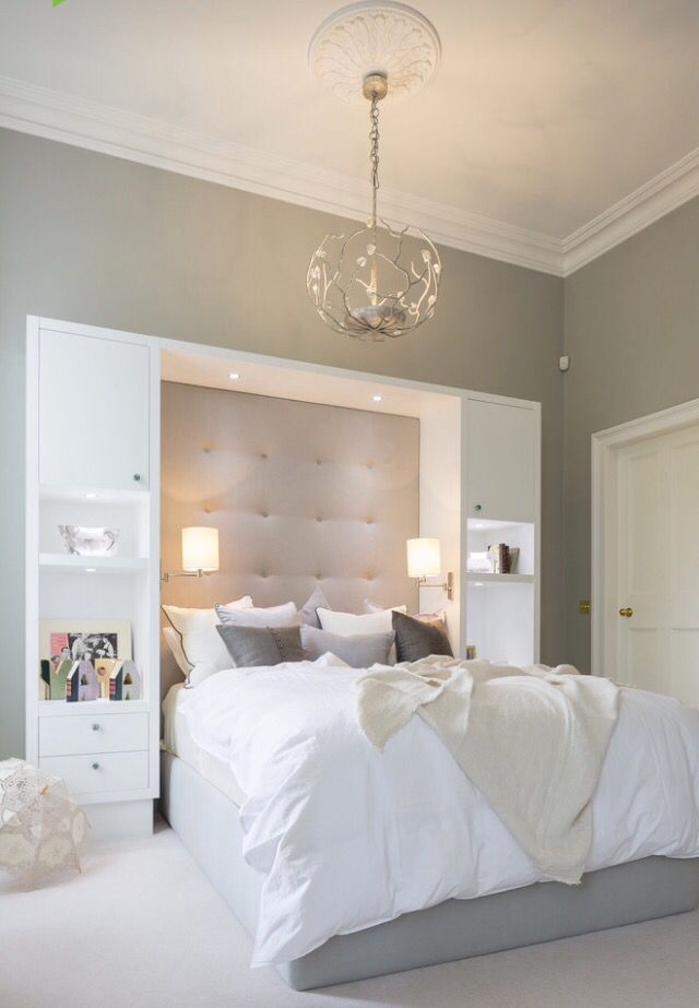 This radiant master bedroom is absolutely stunning but very simple too.