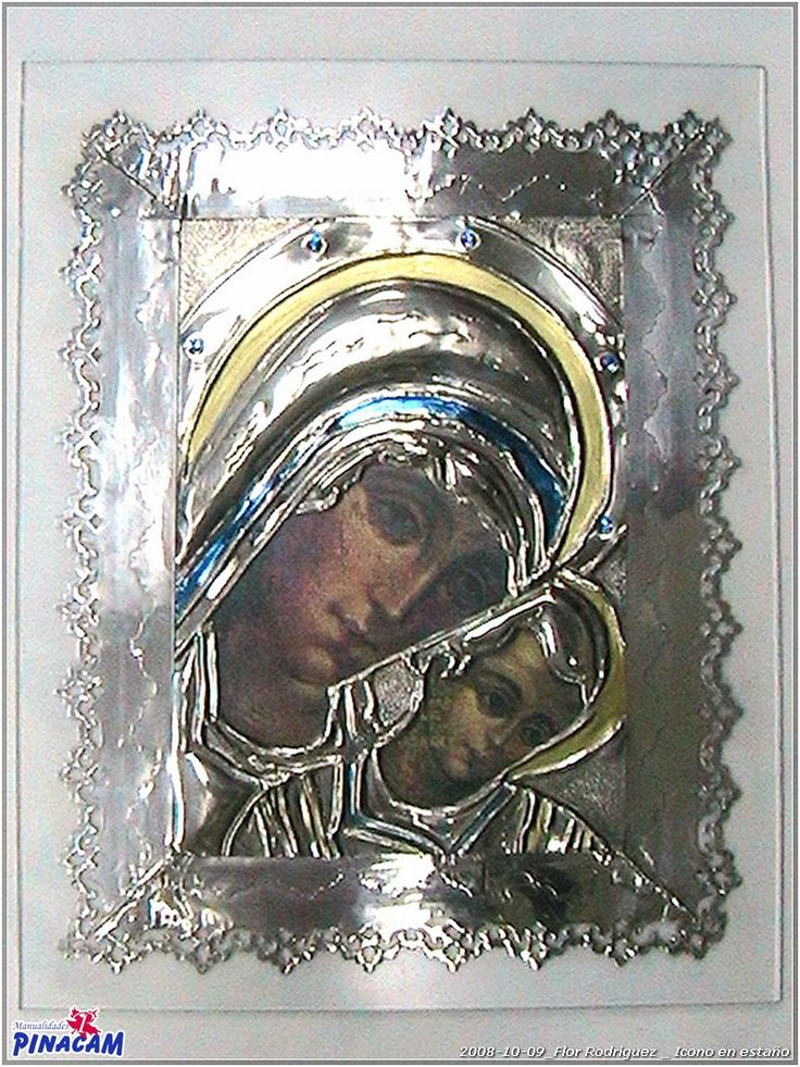 Icono con esta o realizado por flor manualidades for Manualidades con estano