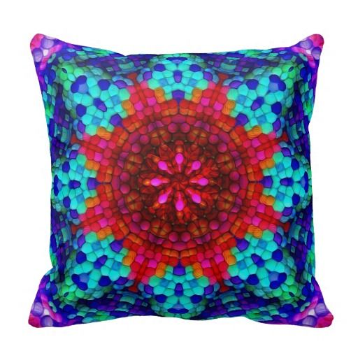 Mandala Mosaic Pillow | Mandala, Mosaics and Pillows