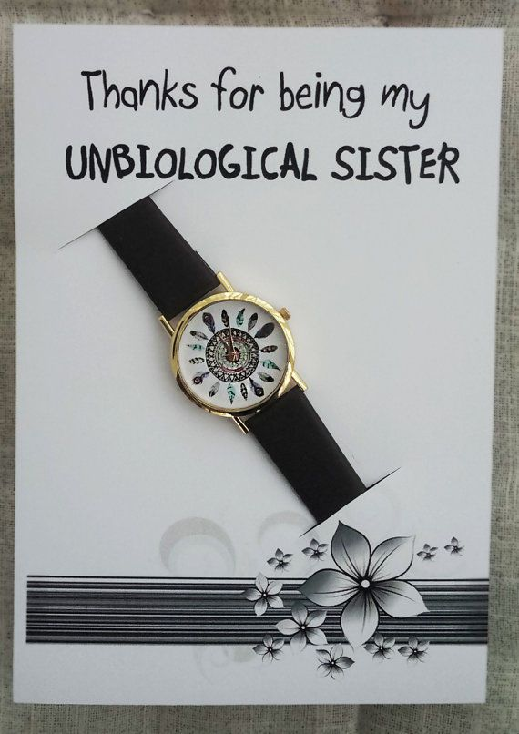 Thanks Being My Unbiological Sister Card Watch Brown Hippie Band Fashion Watch #Unbranded #Dress