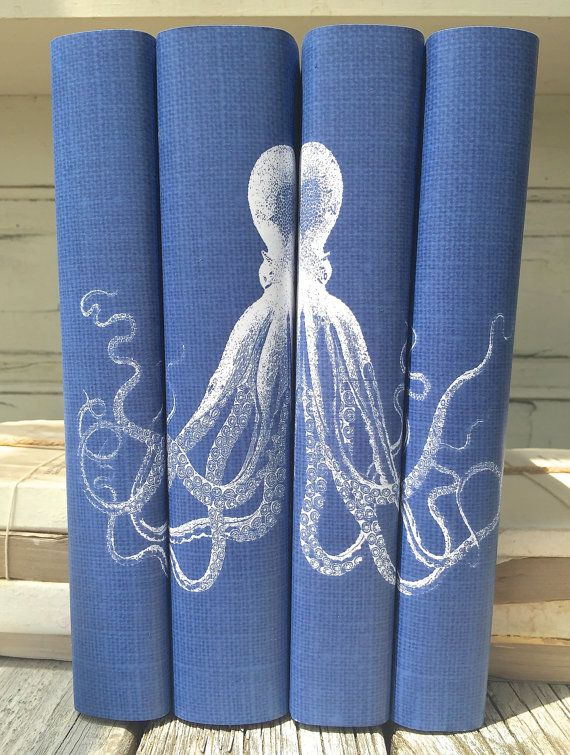 Octopus Decorative Books Decorative Books with by ArtfulLibrary