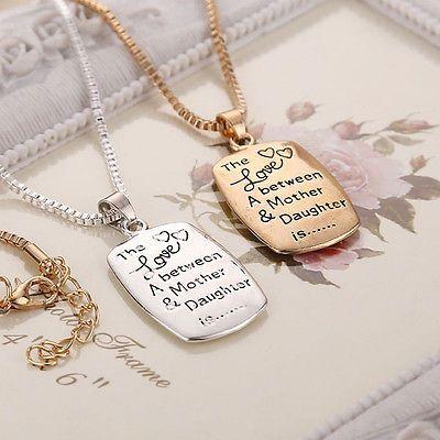 da donna in argento oro gioielli amore del cuore tra madre figlia collana set