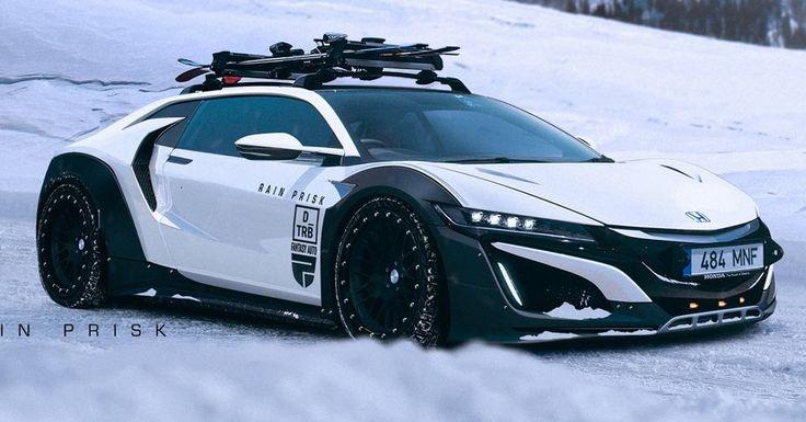 Honda NSX Shooting Brake Ready To Tackle The Ski Slopes #Acura #Acura_NSX