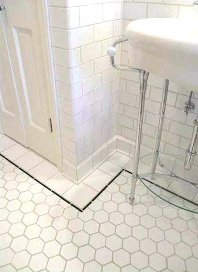 Ceramic Cove Base Tile Floor Trim White Sanitary In Tiled Bathroom