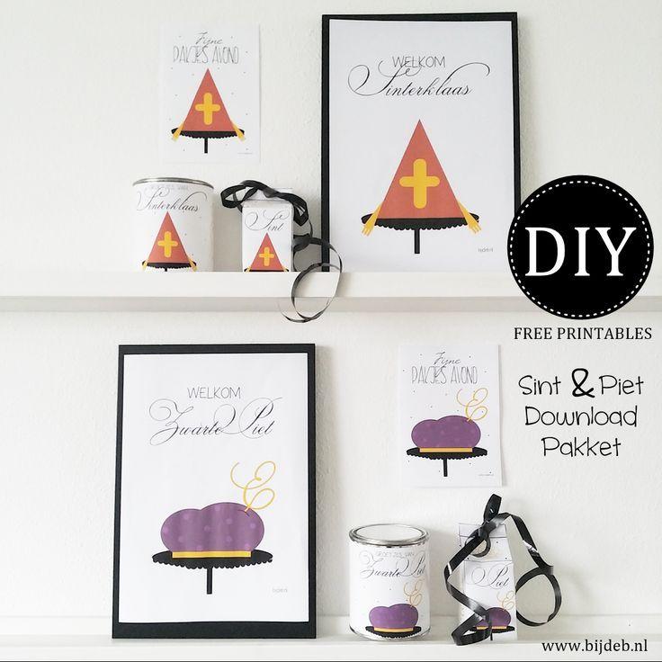 DIY free printable Sint en Piet pakket.