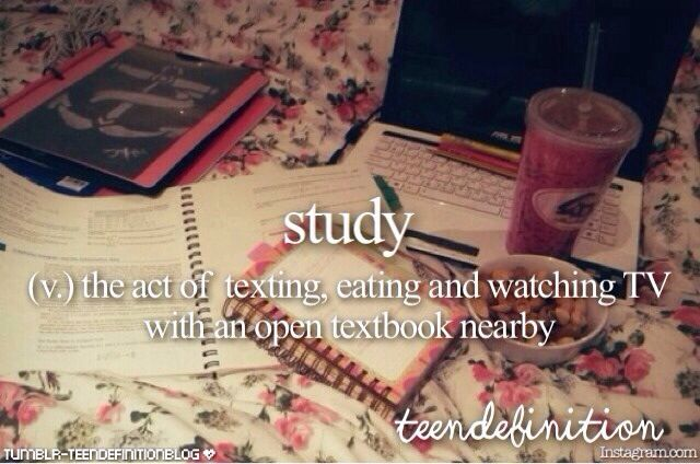 So true! It takes me so long to do homework cause it seems like everyone knows I'm starting my homework so they text me and text me and text me. I get so distracted it takes me all night to finish!