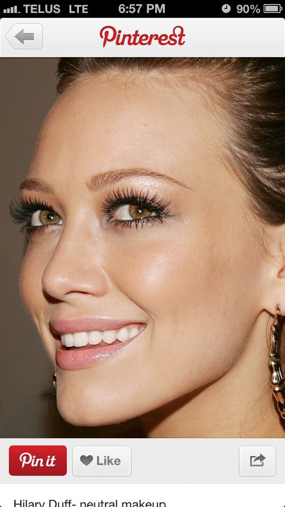 long lashes! Make up