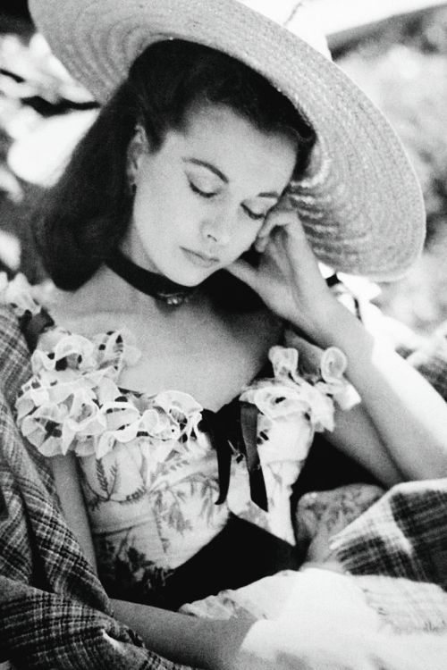 gingerrogerss:  Vivien Leigh resting on the set of Gone With the Wind (1939)
