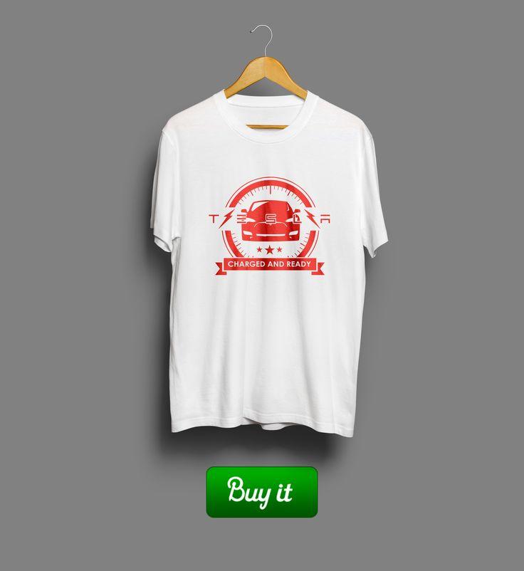 Driver Tesla | #Tesla #logo #Тесла #машина #футболка #tshirt #car #автомобиль #drive