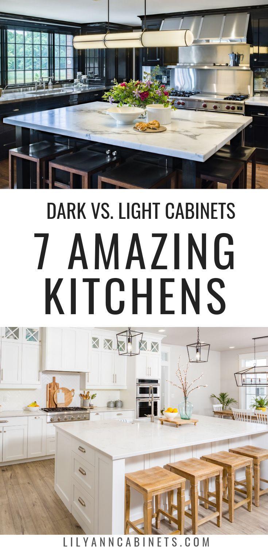Dark Vs Light Kitchen Cabinets Which Is Right For You Light Kitchen Cabinets Kitchen Inspirations Kitchen Cabinets Decor