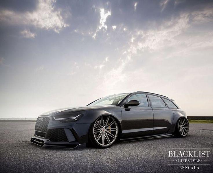 """Wide Body RS6 on @vossen's! | Design by @bengalaautodesign | #blacklist #audi #rs6 #vossenwheels"""