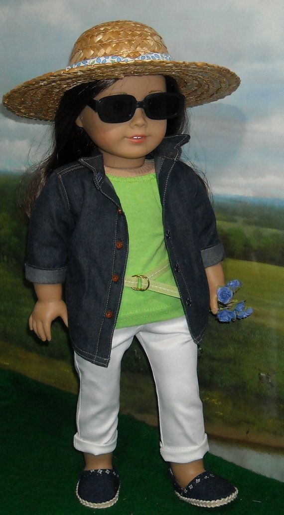 Denim Shirt and Jeans Outfit for American by SugarloafDollClothes