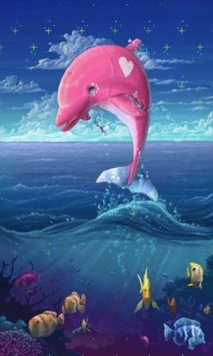 17 best Pink Wallpapers images on Pinterest   Background ...Pink Dolphin Wallpaper