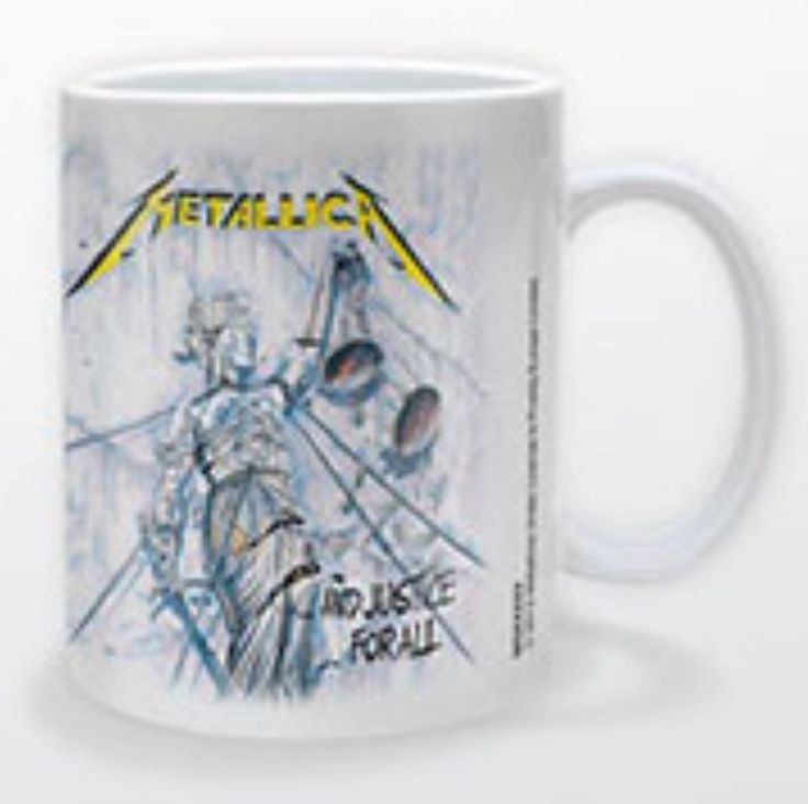 METALLICA And Justice For All Coffee Mug Official Band Merch Ceramic New Boxed