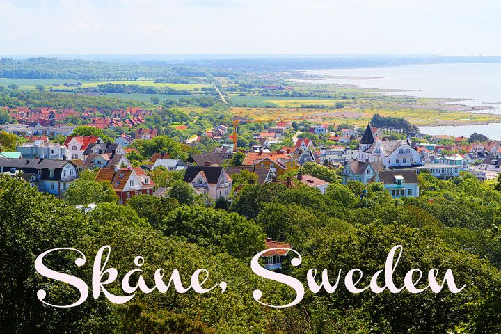 Beautiful countryside region of Skåne, Sweden. Mölle village at the picture. #PinStockholm