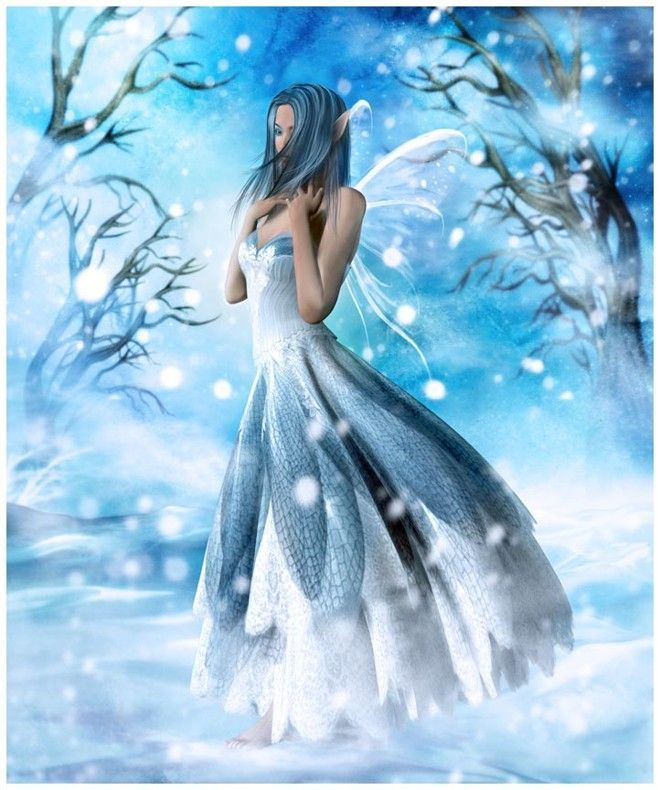 Snow Fairy -Fairy in the snow. Now I know why Santa lives on the North Pole.