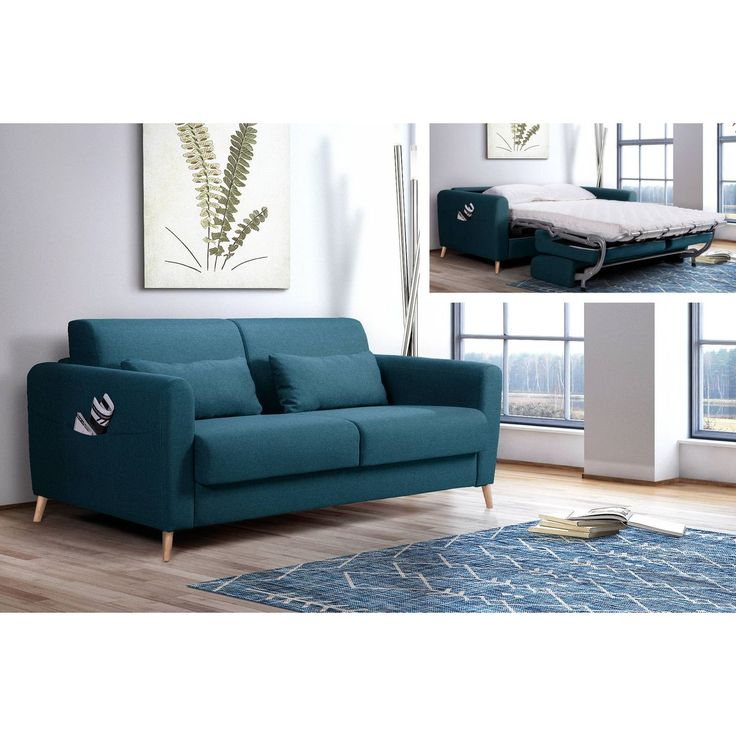 Timo 3 Seater Convertible Sofa Express Opening Daily Bed Scandinavian Color Duck Blue Sale Of Lisa In 2020 Lisa Design Convertible Sofa Indian Interiors
